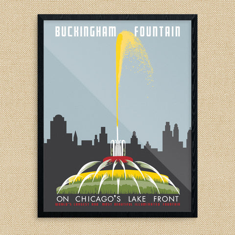 Chicago Buckingham Fountain 11 x 14 Print