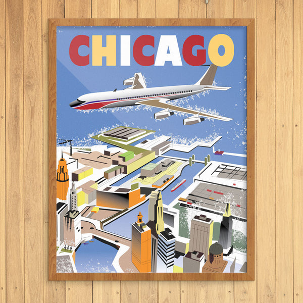 Chicago River by Air 11 x 14 Print