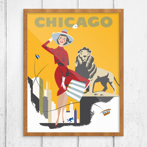Chicago Windy City Shopper 11 x 14 Print