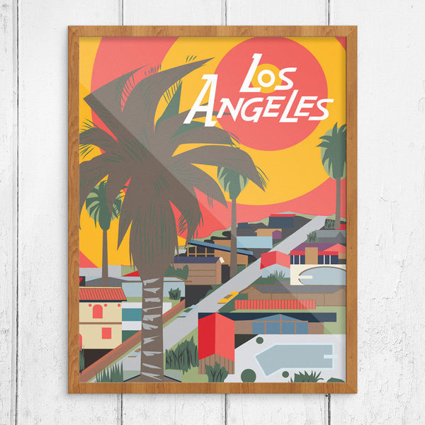 Los Angeles Sun & Pools 11 x 14 Print