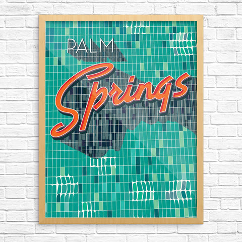 Palm Springs Sign 11 x 14 Print