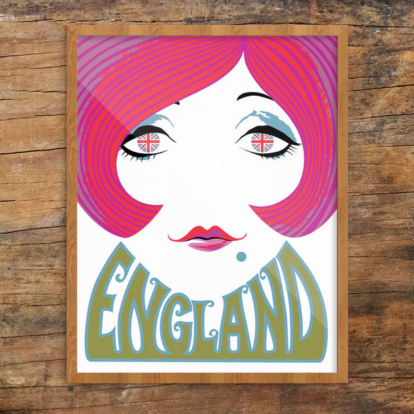 English Mod 60's Gal 11 x 14 Print