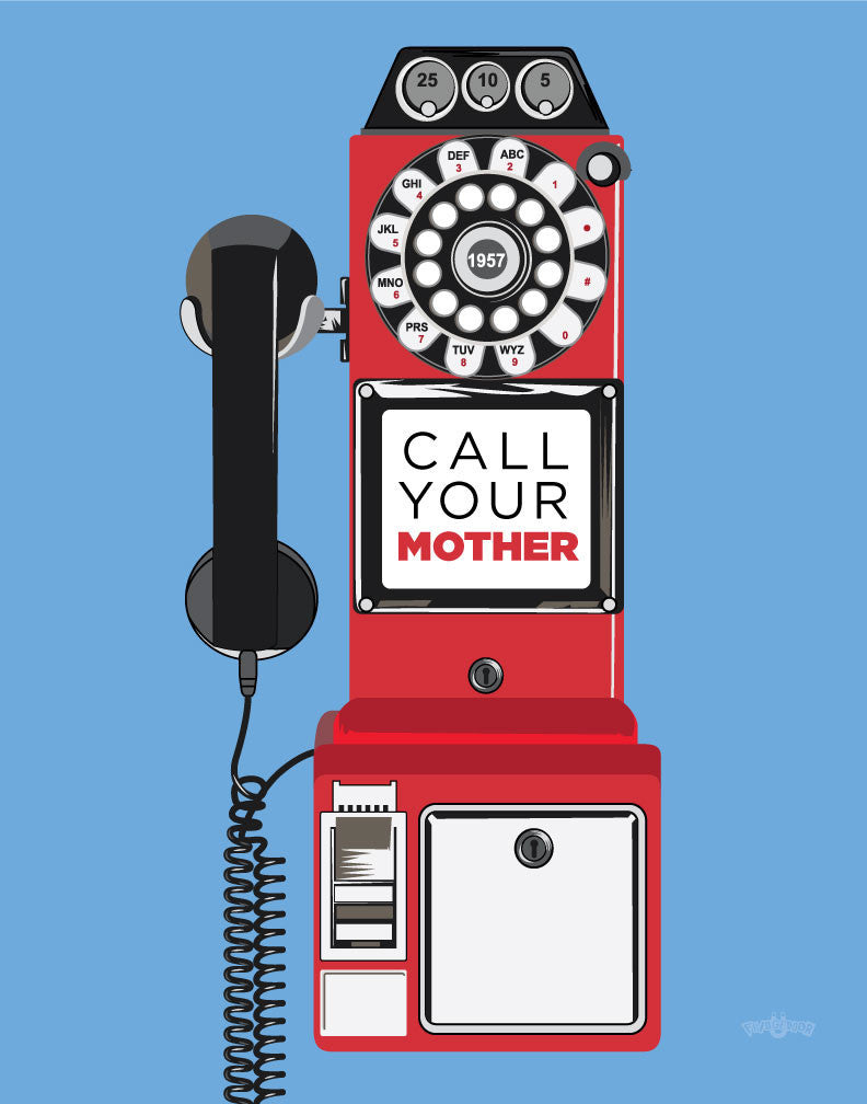 Call Your Mother Payphone Magnet