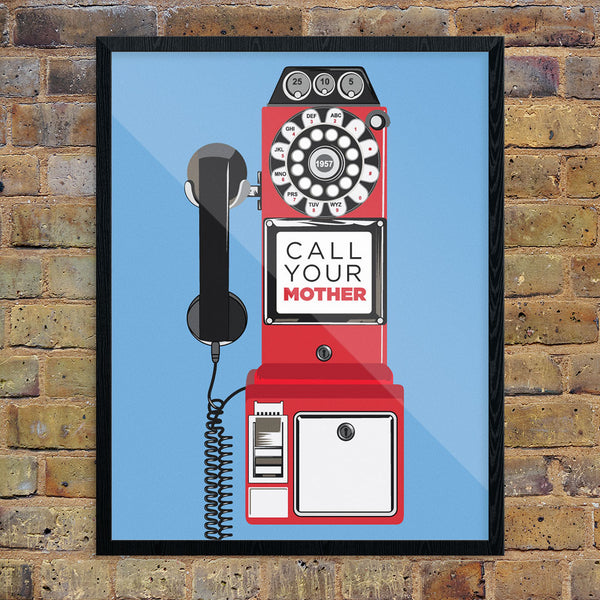 Call Your Mother Payphone 11 x 14 Print