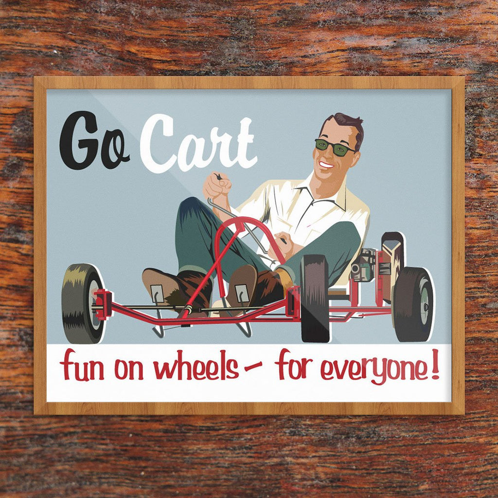 Go Cart Fun on Wheels Print