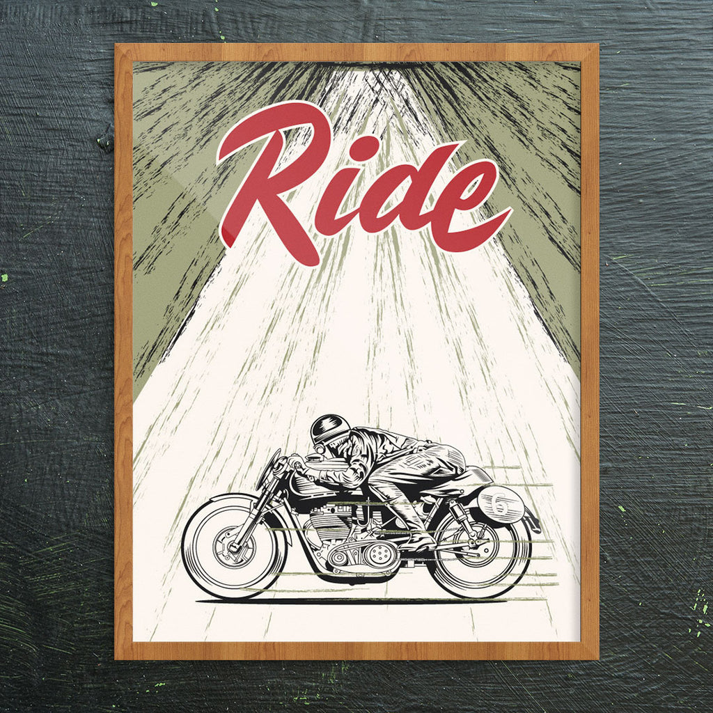 Ride Motorcycle Man 11 x 14 Print