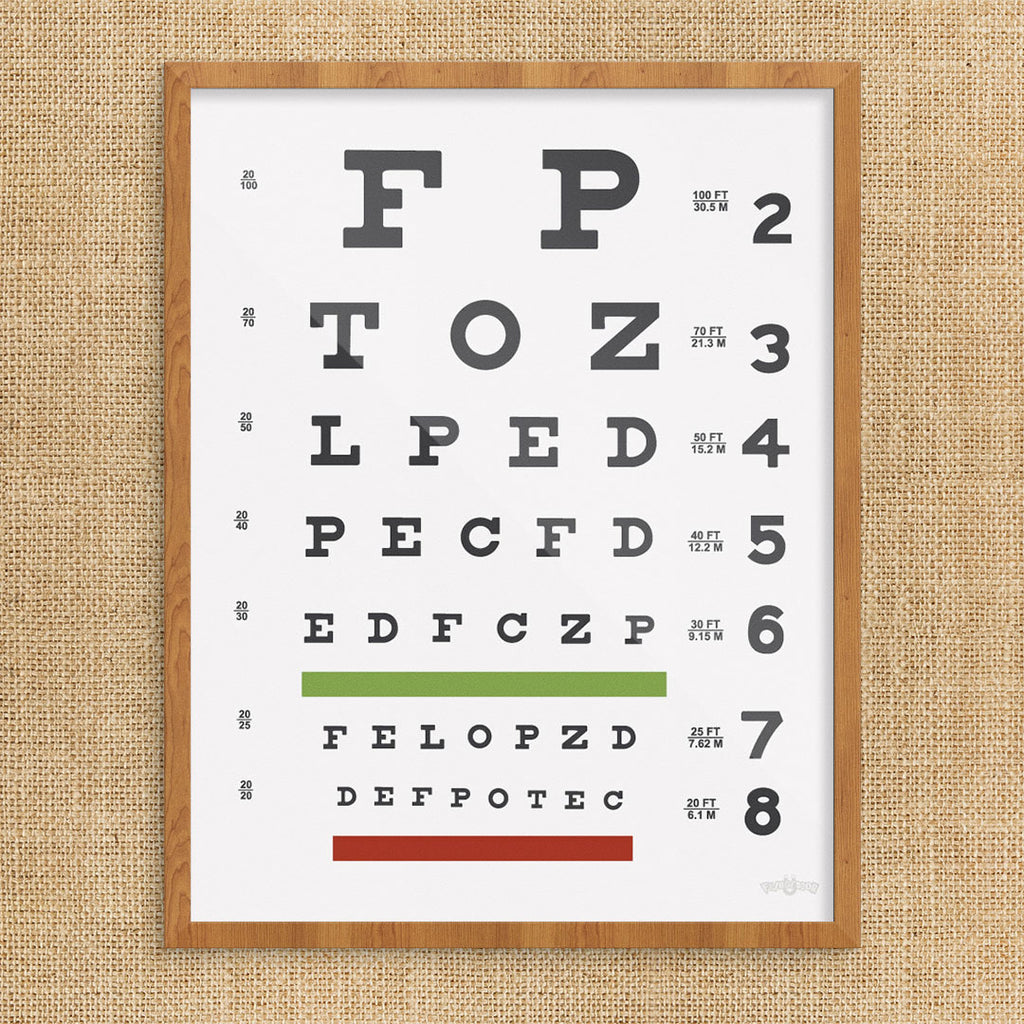 graphic about Eye Chart Printable known as Eye Chart Print
