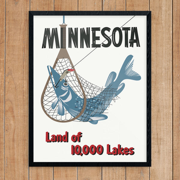 Minnesota Northern Pike Fishing 11 x 14 Print