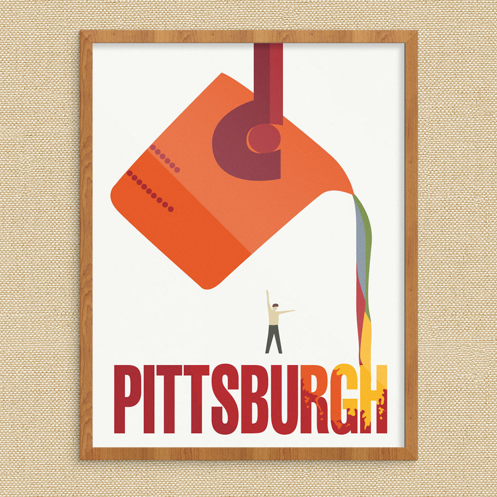 Pittsburgh The Steel City Travel Poster 11 x 14 Print