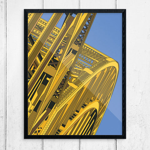 Pittsburgh Yellow Bridges Print