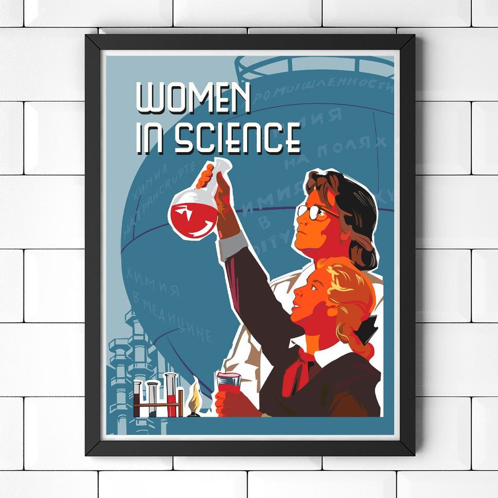 Women in Science 11 x 14 Print