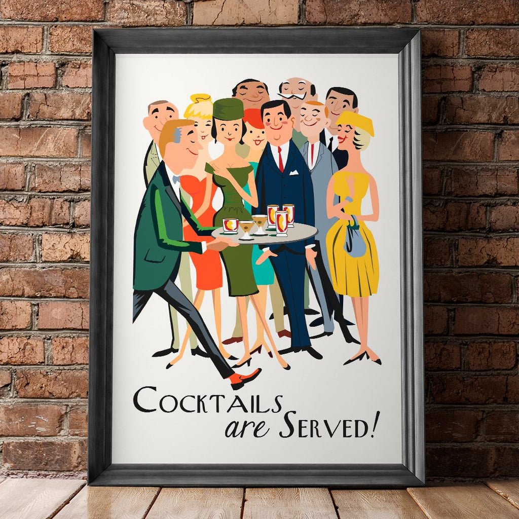 Cocktails Are Served 11 x 14 Print