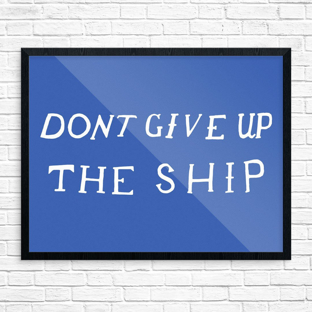Don't Give Up the Ship Battle Flag Print
