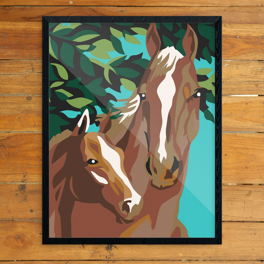 Paint By Number Horse & Colrt Print