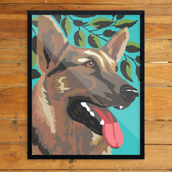 Paint By Number German Shepherd Print