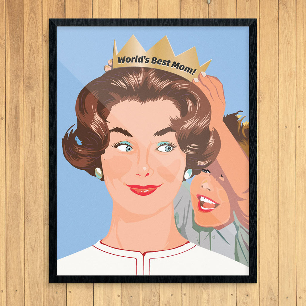 World's Best Mom 11 x 14 Print