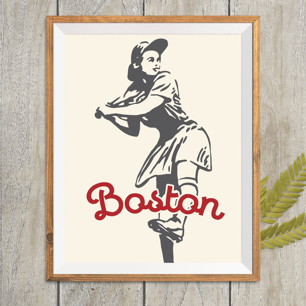 Boston Softball Gal Print