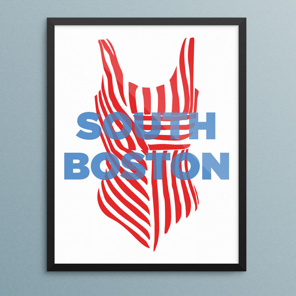 South Boston Bathing Suit Print