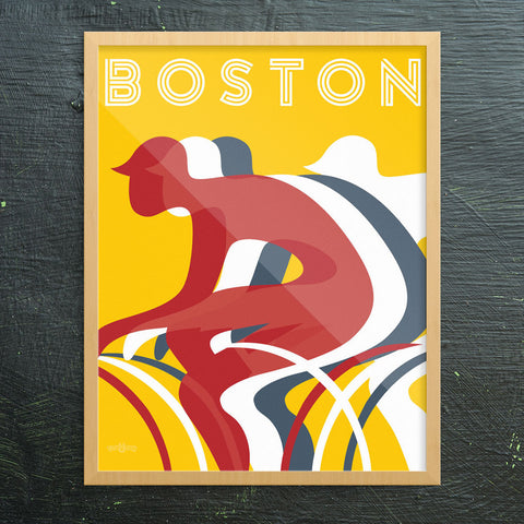 Boston Bikers Print