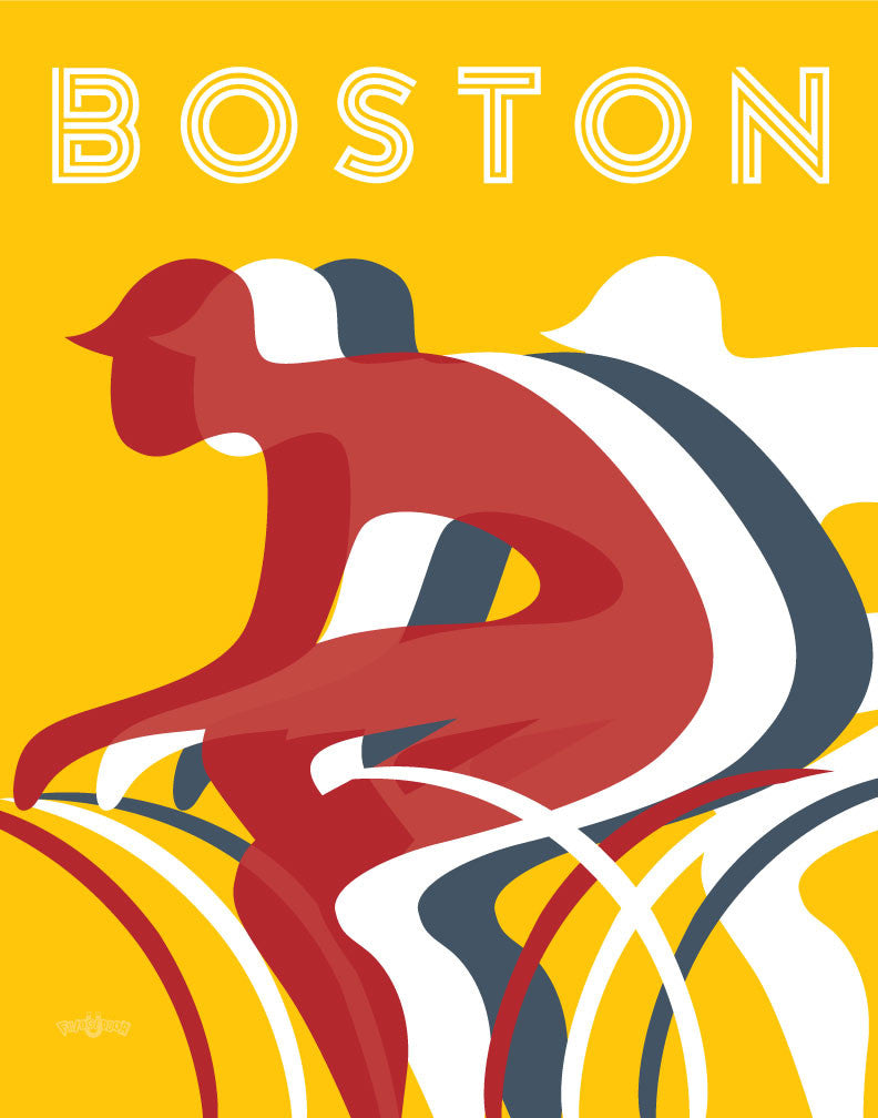 Boston Bikers Silhouettes Magnet