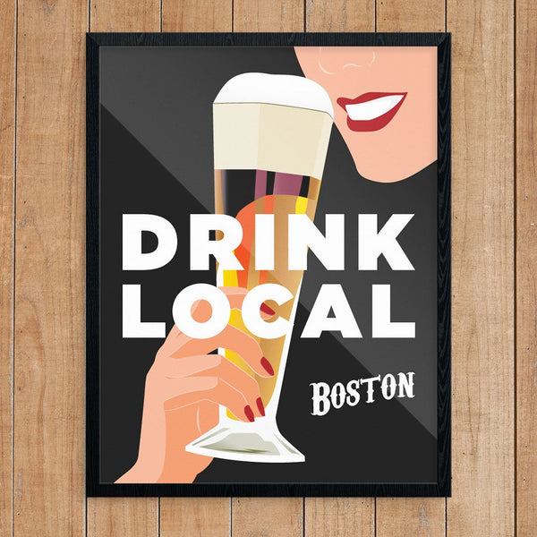 Drink Local Boston Neighborhoods Prints