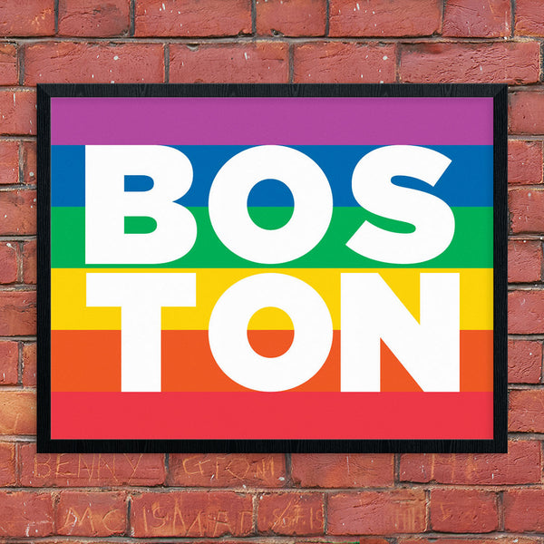 Boston Diversity Flag 11 x 14 Print