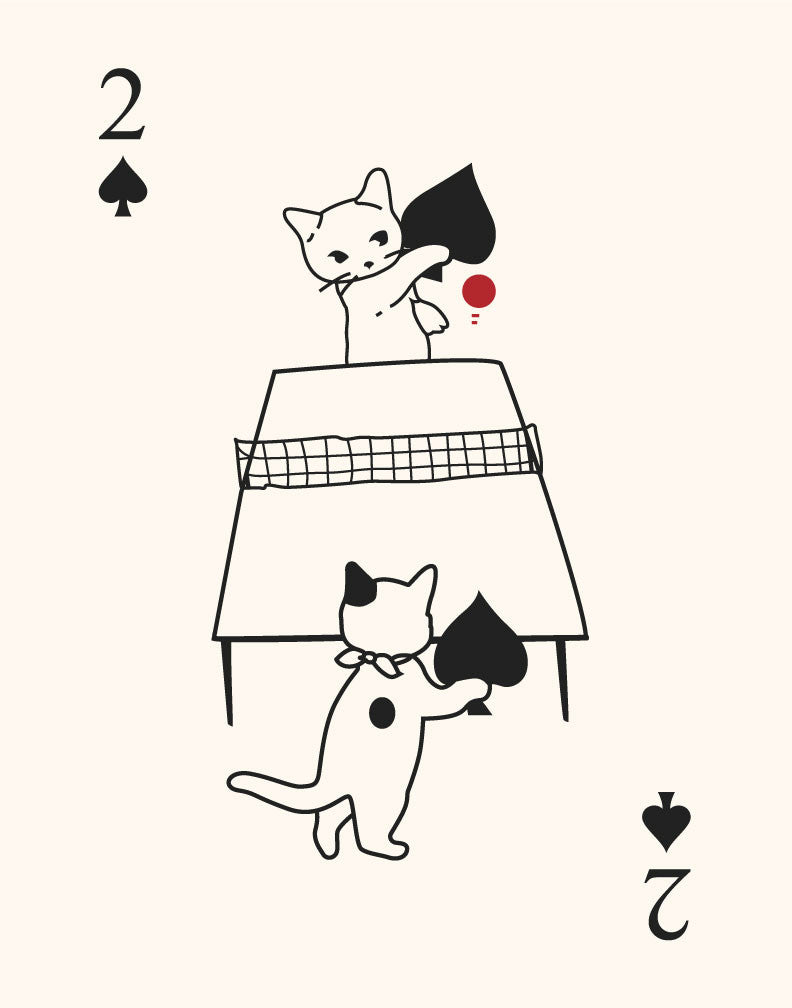 Cats Playing Ping Pong Magnet