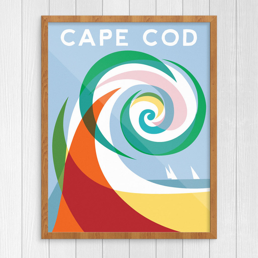 Colorful Wave Cape Cod 11 x 14 Print