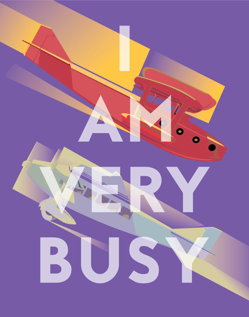 I Am Very Busy Planes Magnet