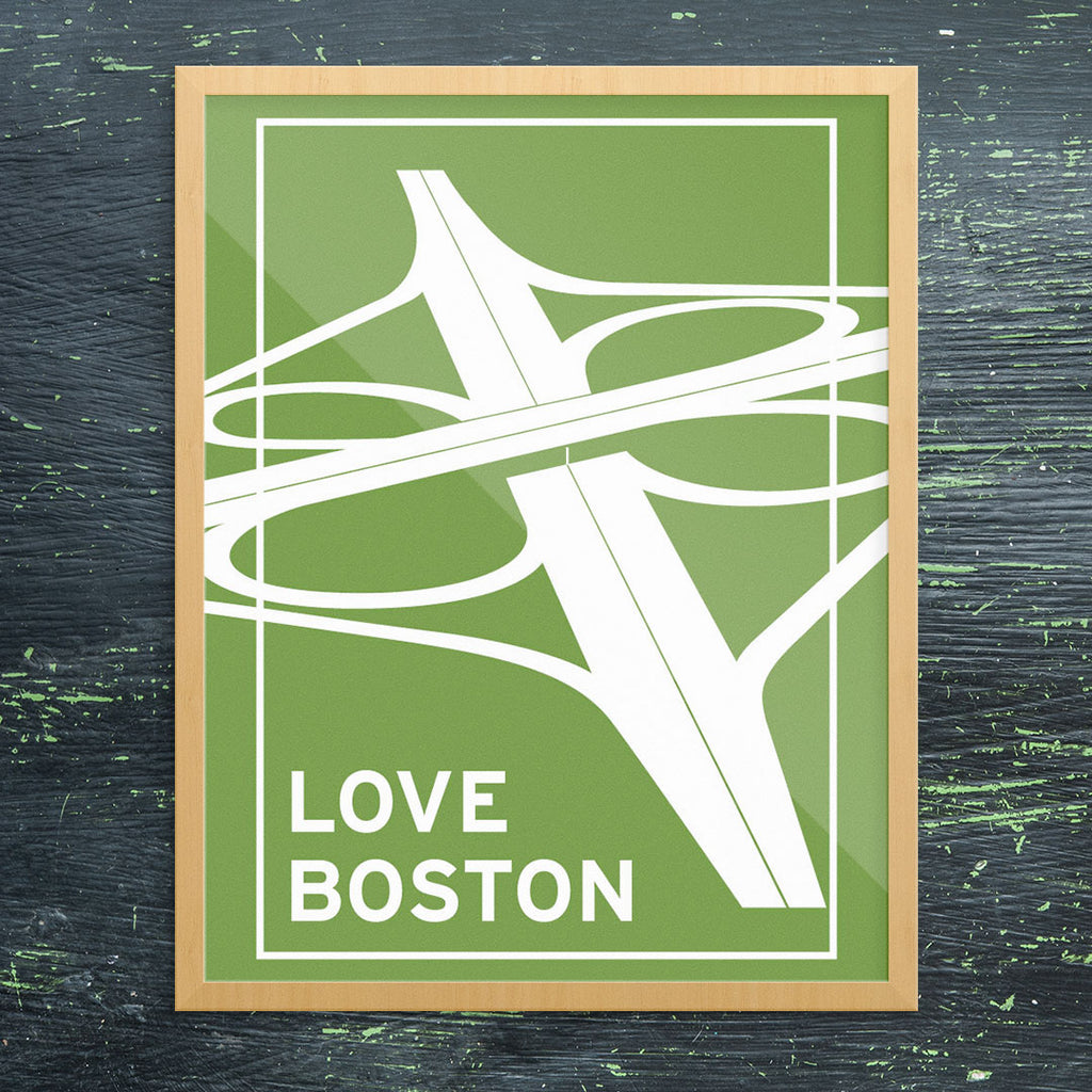 Love Boston Interchange 11 x 14 Print