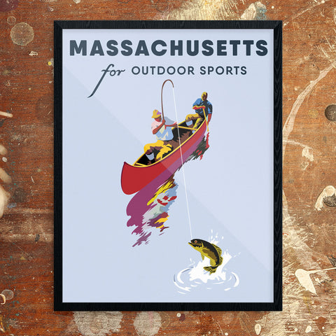 Massachusetts For Outdoor Sports 11 x 14 Print