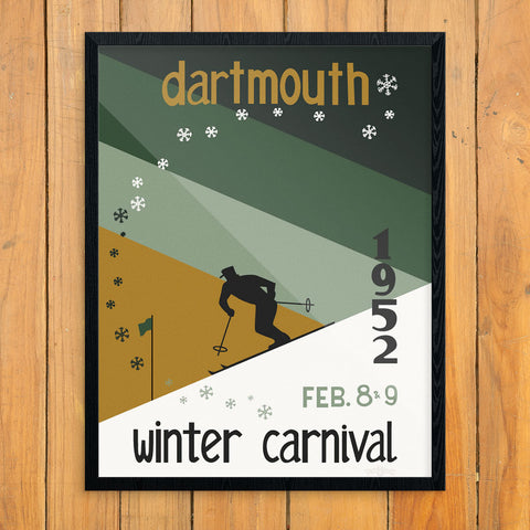 Dartmouth 1952 Winter Carnival 11 x 14 Print