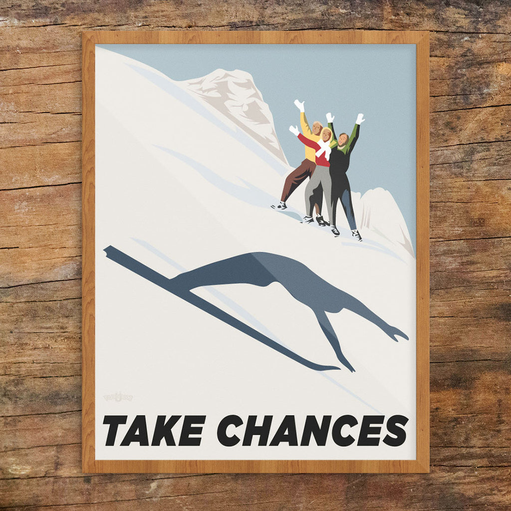 Take Chances Ski Jumper 11 x 14 Print