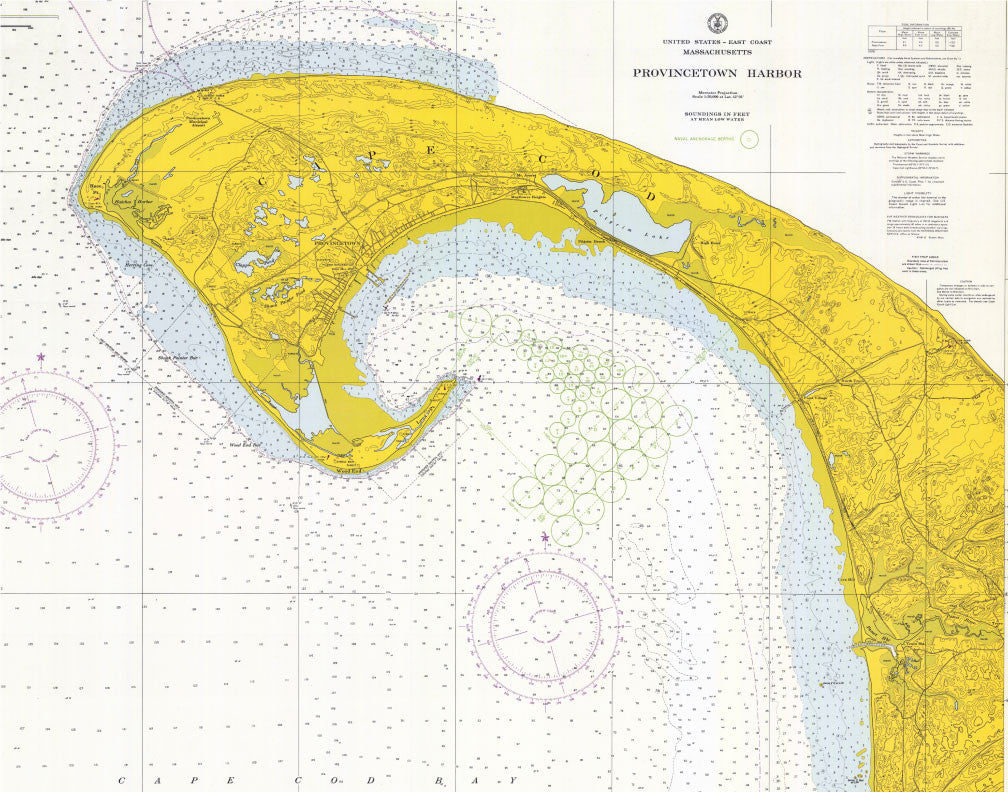 Provincetown Harbor Nautical Chart Magnet