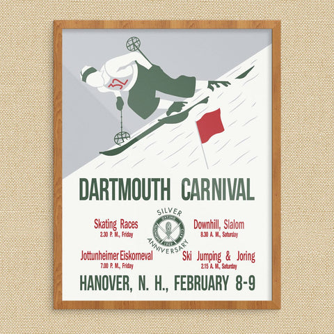 Dartmouth Winter Carnival 1935 Ski Couple Poster