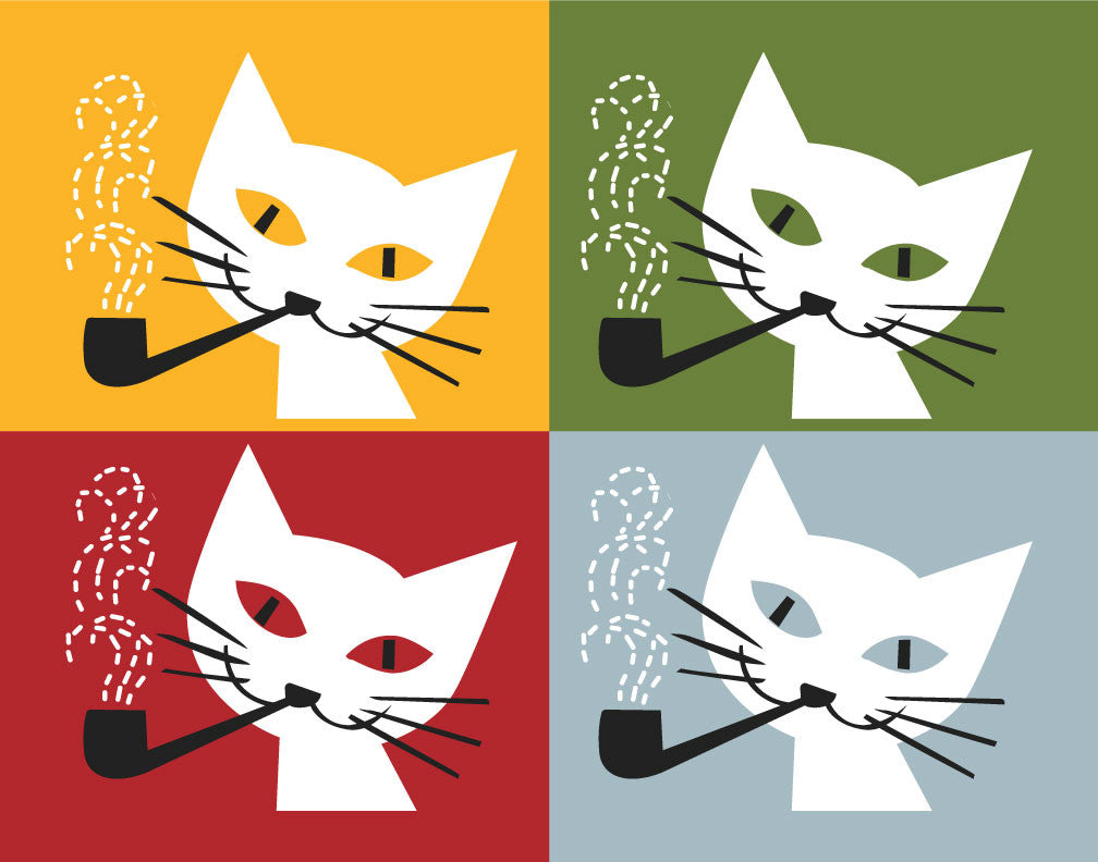 Pipe Smoking Cats Magnet