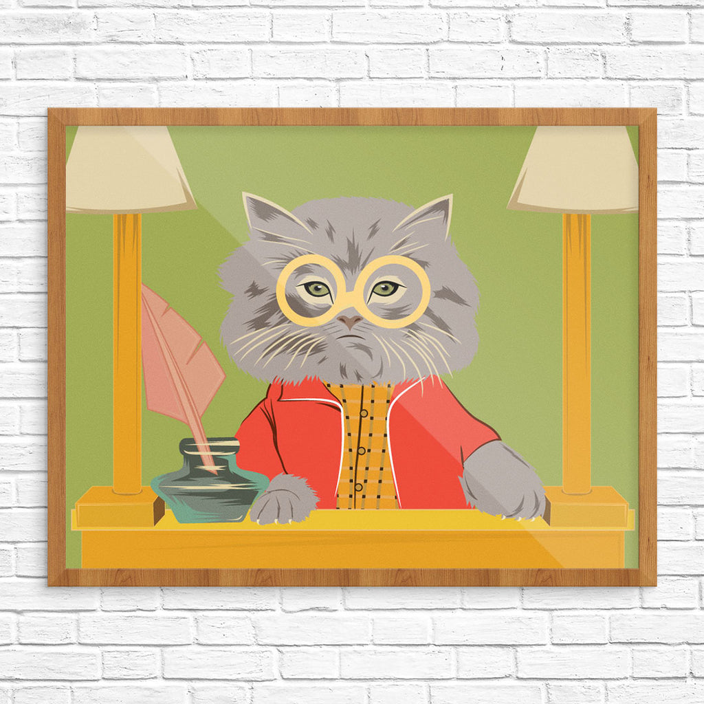 Judgmental Cat 11 x 4 Print
