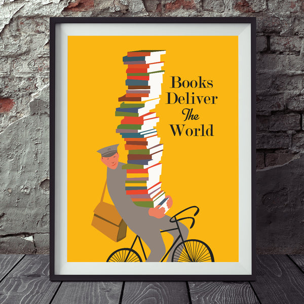 Books Deliver The World Print