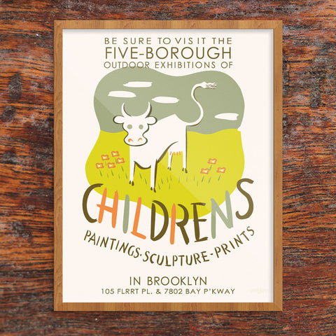 Brooklyn Children's Painting & Sculpture WPA Poster 11 x 14