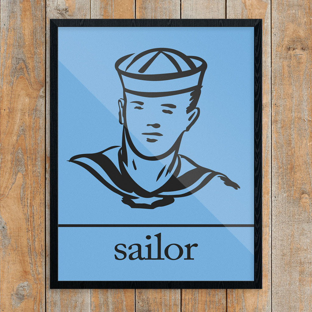 Hey Sailor 11 x 14 Print