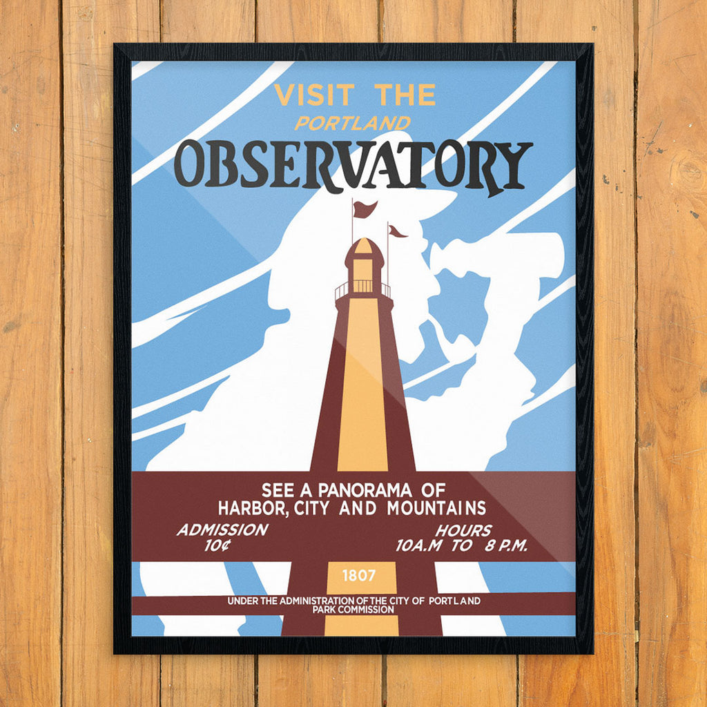Visit the Portland Maine Observatory 11 x 14 Print