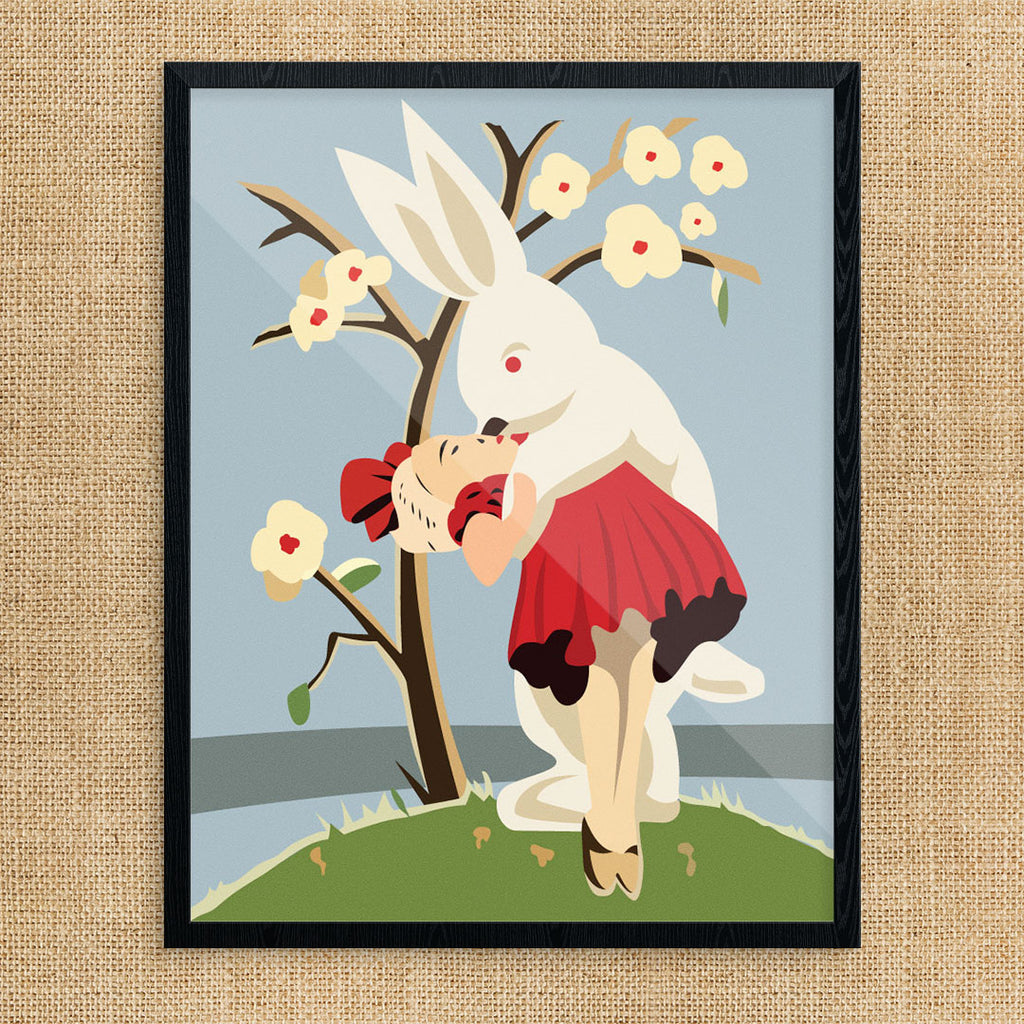 Very Happy Easter Bunny 11 x 14 Print