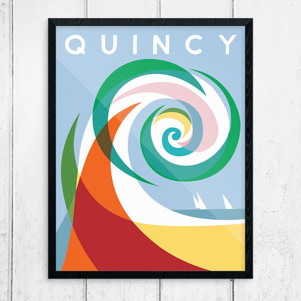 Quincy Colorful Wave Print