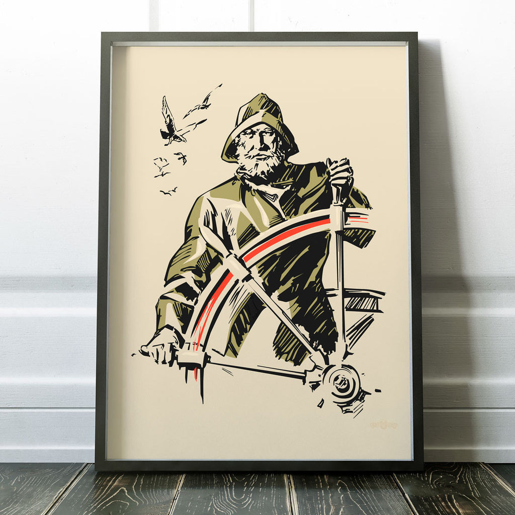 Old Sea Captain nautical 11 x 14 Print