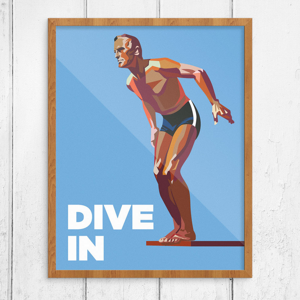 Dive In Male 11 x 14 Print
