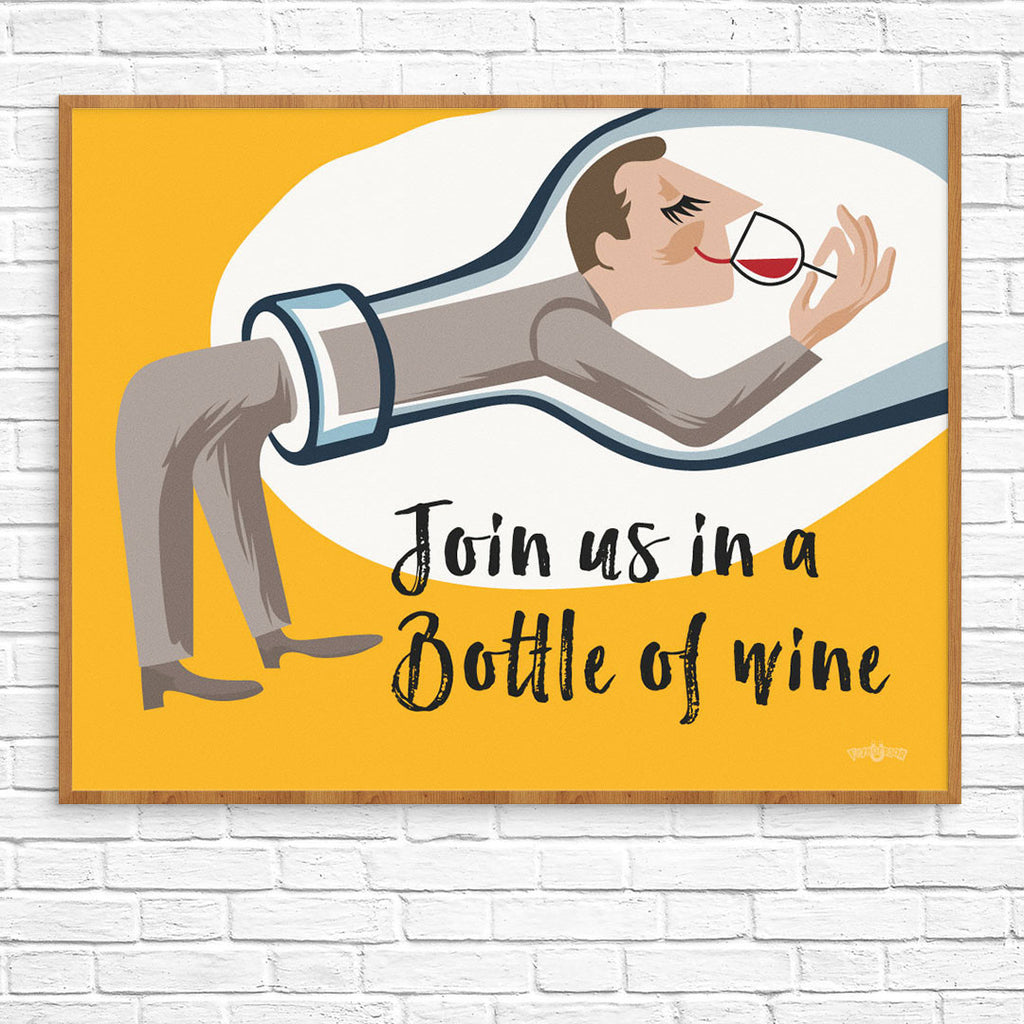 Join Us in a Bottle of Wine 11 x 14 Print