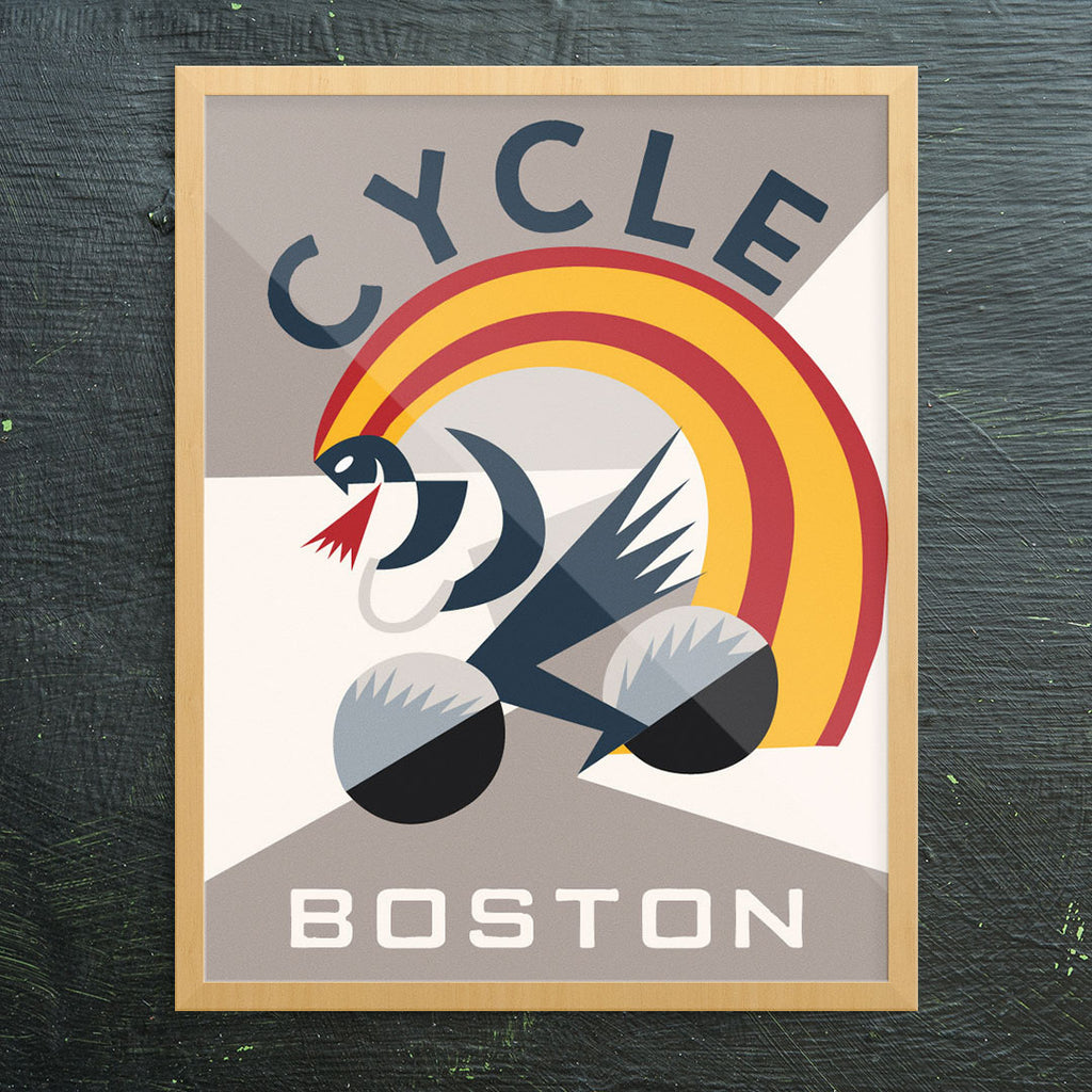 Cycle Boston 11 x 14 Print