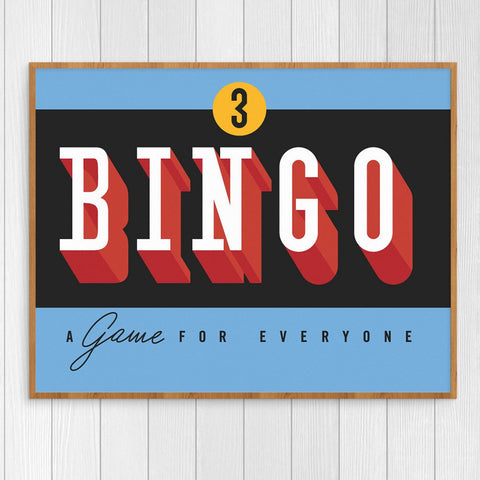 Bingo a Game For Everyone 11 x 14 Print