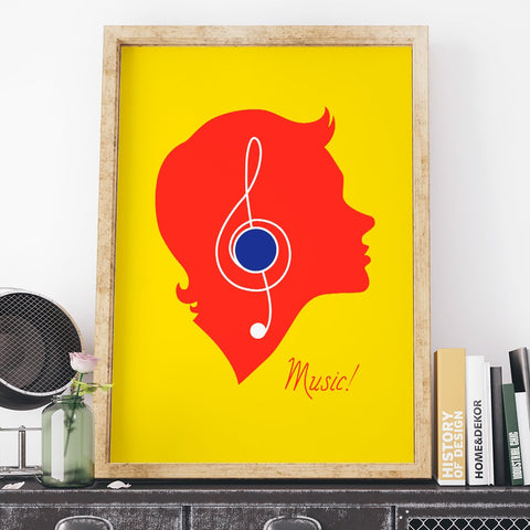 Colorful Music Lisitner 11 x 14 Print