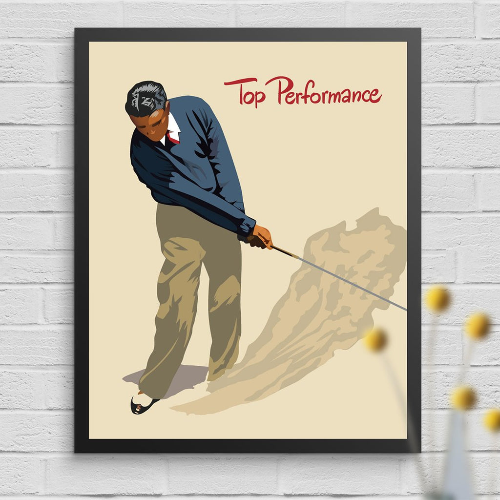 Top Performance Golfer 11 x 14 Print